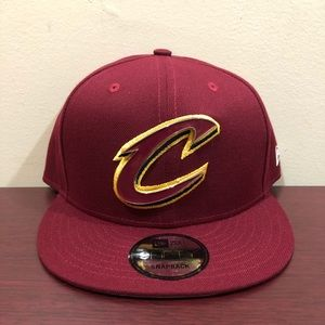 New Era, 9Fifty Snapback Hat, Cleveland Cavaliers
